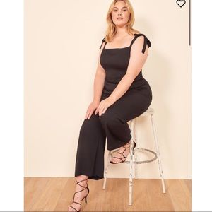 Reformation Fay black tie strap jumpsuit